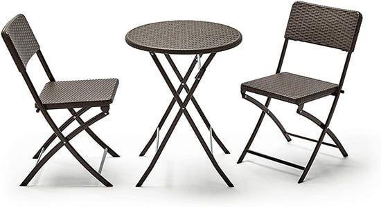Conjunto mesas y sillas jardín